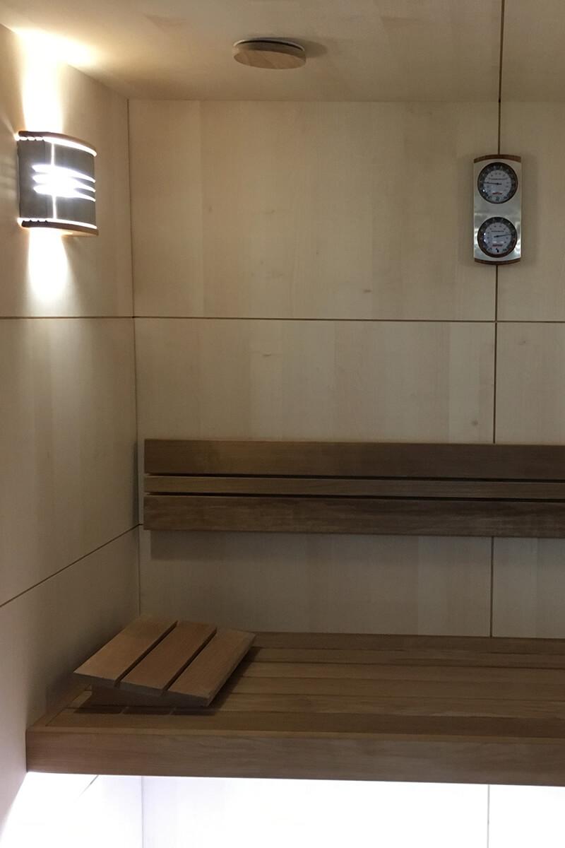 Finnische Sauna - interne Ansicht