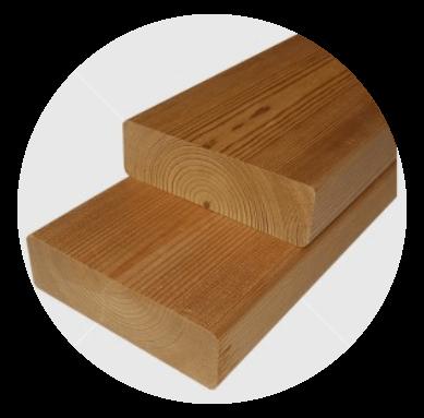 Knorrigen  Wärmebehandelten  (thermowood) finnische Kiefer  Bankleiste 27x92mm