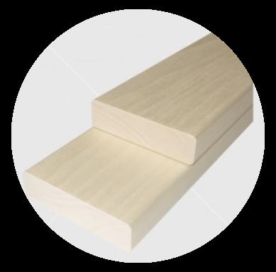 Aus astreinem finnische Pappel Bankleiste 21x90mm