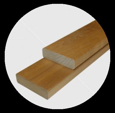 Aus astreinem Wärmebehandelten (thermowood) finnische Pappel Bankleiste 22x80mm