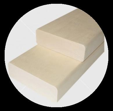 Aus astreinem finnische Pappel Bankleiste 28x90mm