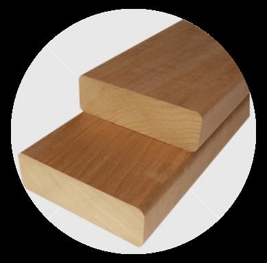 Aus astreinem Wärmebehandelten  (thermowood)  finnische Pappel Bankleiste 28x90mm
