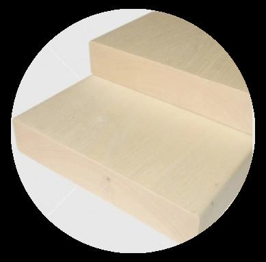 Aus astreinem finnische Pappel Bankleiste 28x120mm