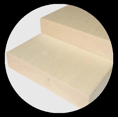 Aus astreinem finnische Pappel Bankleiste 28x140mm
