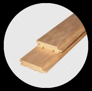 Aus astreinem Wärmebehandelten  (thermowood) Pappeltäfelung 15x68mm