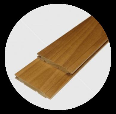 Aus astreinem Wärmebehandelten  (thermowood) Pappeltäfelung 12x90mm