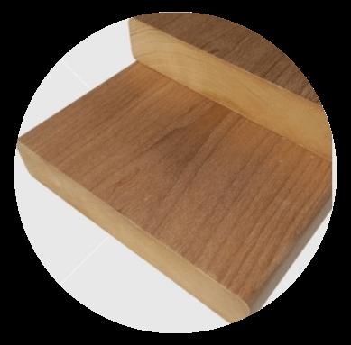 Aus astreinem Wärmebehandelten  (thermowood) finnische Pappel Bankleiste 28x140mm