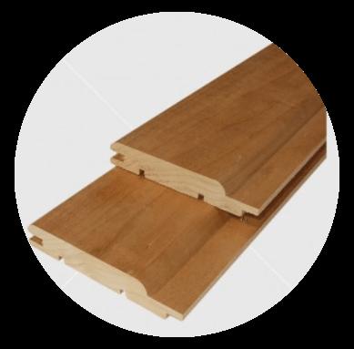 Aus astreinem Wärmebehandelten  (thermowood) Pappeltäfelung 15x90mm