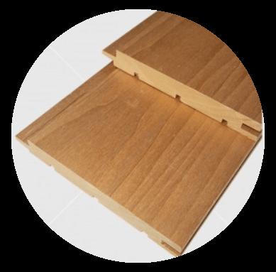Aus astreinem Wärmebehandelten  (thermowood) Pappeltäfelung 15x120mm
