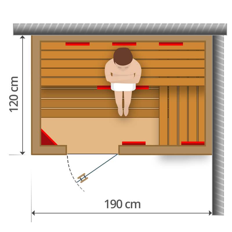 Infra szauna - 190x120cm