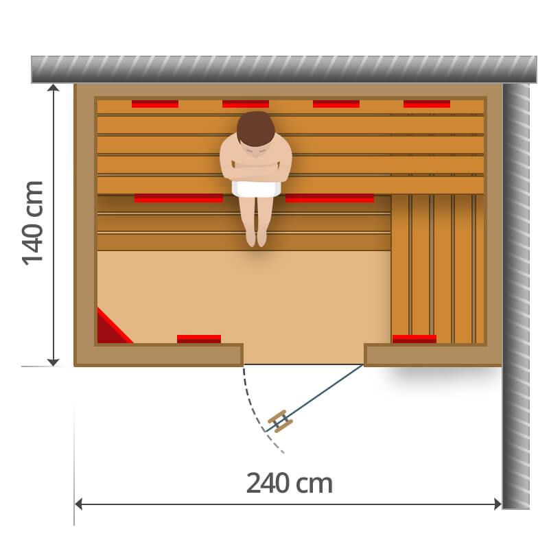 Infra szauna - 240x140cm