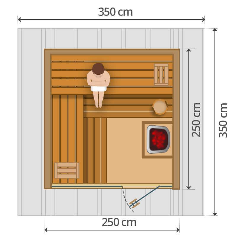 Kültéri szauna - 250x250cm