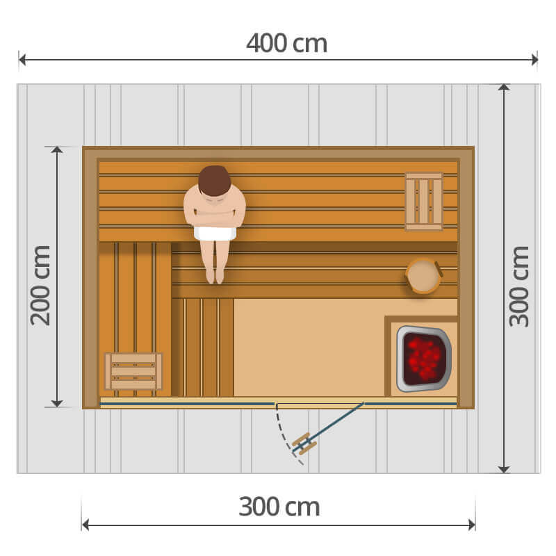 Kültéri szauna - 300x200cm
