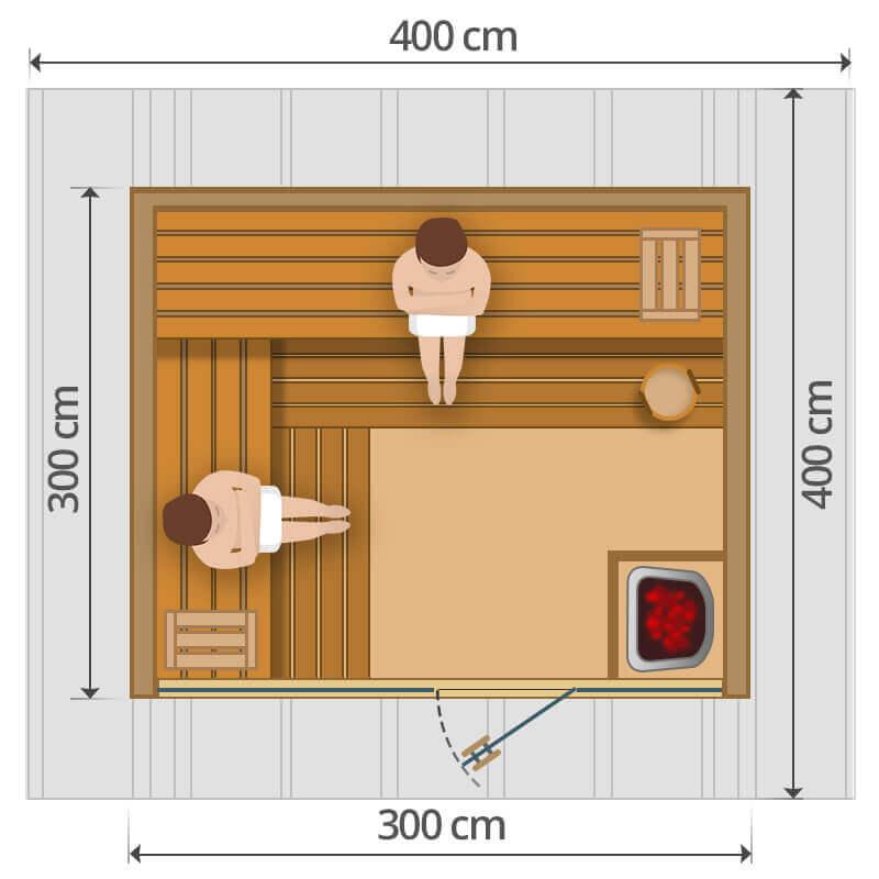 Kültéri szauna - 300x300cm